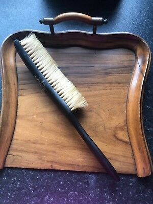 Antique Butlers Table Crumbs Dustpan And Brush