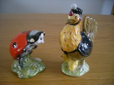 Beswick Beatrix Potter Two Figures Sally Henny Penny & Mother Ladybird Lovely