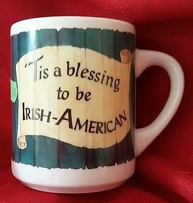 IRISH AMERICAN coffee mug cup flags Cultures & Ethnicities Celtic Collectibles