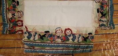 RAGGEDY ANN AND ANDY Toddler BED SKIRT DUST RUFFLE Fabric, Material,  Craft New