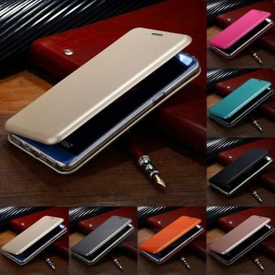 For Samsung Galaxy S8 S9 S7 - Luxury Smart Shockproof Leather Wallet Case Cover