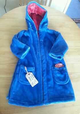 Marks & Spencer ️blue Paddington bear bathrobe boys  age 18-24 months