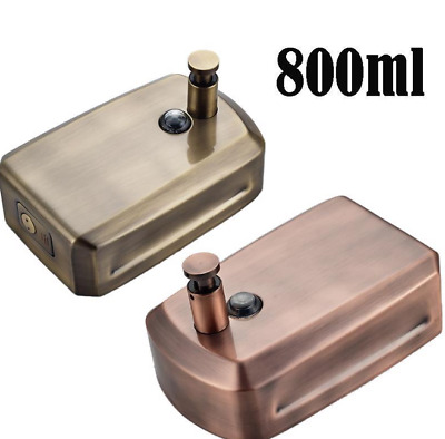 Two Color Liquid Soap Dispenser Bathroom Wall Mounted 800ml Antique Style Bronze
