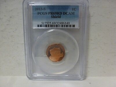 2013-S Lincoln Cent PR69RD DCAM PCGS Proof 69 Red Deep Cameo Shield