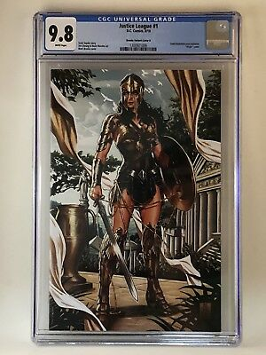 Justice League 1 Mark Brooks Virgin Variant B (DC, 2018) CGC 9.8