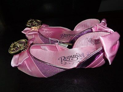 DISNEY Rapunzel Toddler Girls  Costume Shoes SZ 9/10