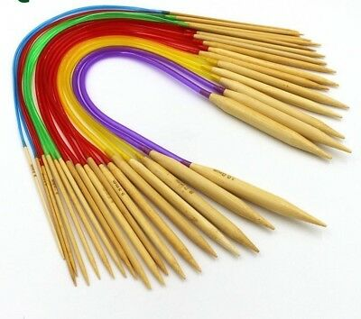 Double Pointed Bamboo Annular Knitting Needles Multi-color Crafts Yarn Tools New