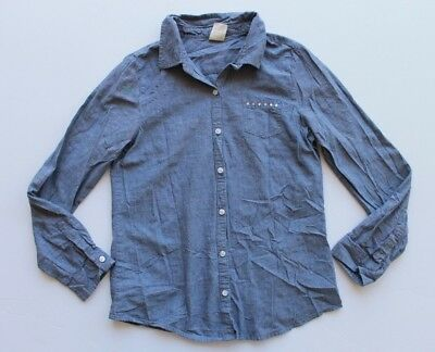 Faded Glory Girl's Blue Long Sleeve button down, size XL(14-16)