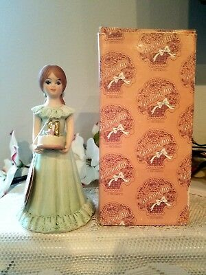 Enesco GROWING UP BIRTHDAY GIRLS 11th ~ Brunette ~ Tag/Box