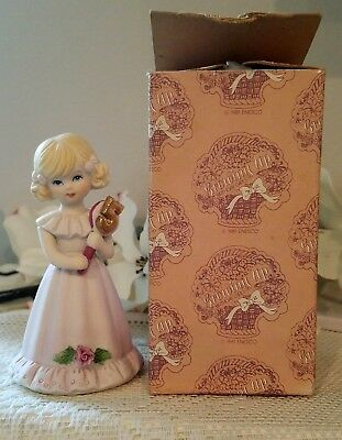 1981 Enesco GROWING UP BIRTHDAY GIRLS, age 5 ~ Blonde  ~ Box
