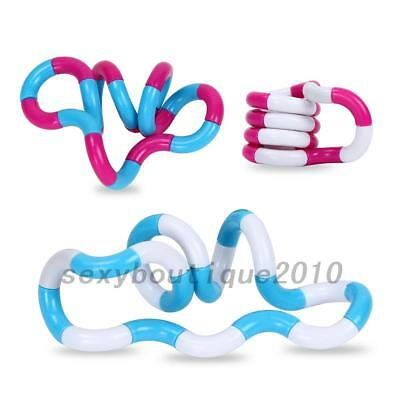 2X Twist Tangle Fiddle Fidget Stress Relief Toy SEN Sensory Help Stop Smoking US