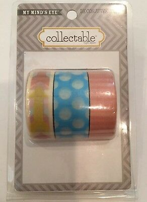 My Mind's Eye Collectable Jen Alison Decorative Tape Washi Scrapbooking Card