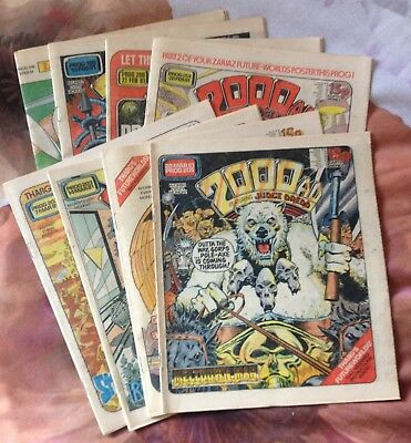 2000AD - 8 early progs - 198,199, 200, 201, 202, 203, 204, 205
