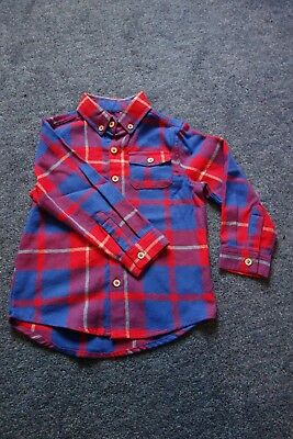 Boy's Checked Shirt age 12-18 months Tu Sainsburys baby