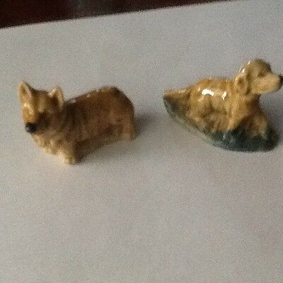 Wade Whimsies Two Collectable Dogs Corgi And Retriever