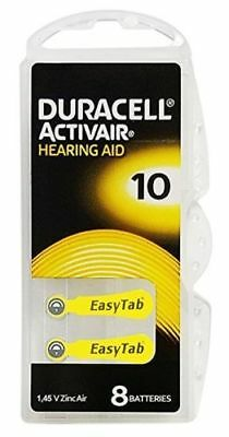 Duracell Activair Mercury Free Hearing Aid Batteries Size 10 (40-160) Exp-2023