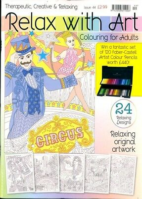 Relax With Art Issue #44 Art Therapy Colouring Book For Adults