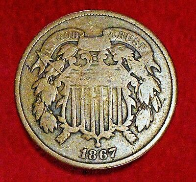 1867 Two Cent Piece 2C! >>> EXCELLENT PROBLEM-FREE TYPE COIN! >>> SEE OUR STORE!
