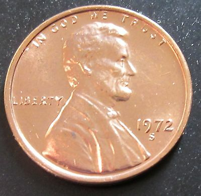 1972-S Lincoln Cent from BU Roll