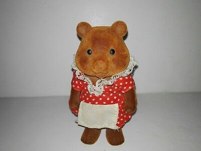 Forest Families Mama Bear With red dress (Barenwald Sylvanian Families) Rare