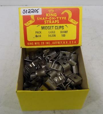 King 14-20N Cable Snap-On-Type Straps Midget Clips  Lot Of 100