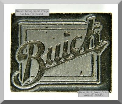 Buick Automobiles, Letterpress Printer's Block, Extremely Rare