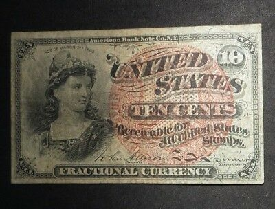 1863 Fourth issue Ten Cent 10¢ Fractional Currency- XF