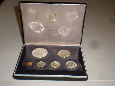 1973 British Virgin Islands Proof Set Sea Birds First Official Coinage Silver D?