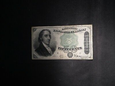 1863 Fourth Issue Fractional Currency 50 Cent- Nice Note