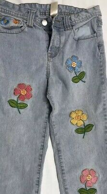 Personal Identity girls size 10 embroidered daisy flowers capri jeans (children)