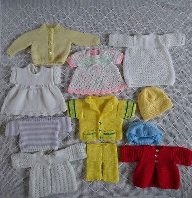 "Vintage Dolls Clothes Hand knitted & Crocheted for 19-20"" Rosebud Roddy Pedigree"