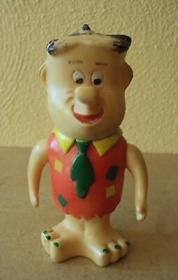 1962 Vintage Flintstones FRED Figure JAPAN Squeeze DOLL Knixie Series