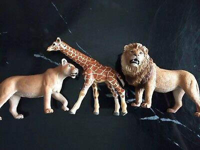 Schleich Lot of 3 Jungle, Africa Make Lion, Lioness And Giraffe