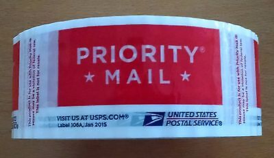 1 Roll Usps Priority Tape 106-A Jan 2015 Red Usps Logo Free Shipping