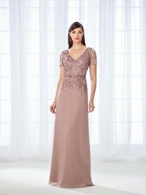 Cameron Blake (11865) Evening Dress/ Mother of the Bride, CAFE, Size 18, NWT