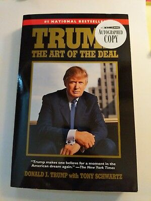 Donald Trump Art of the Deal SB Signed Autographed  New
