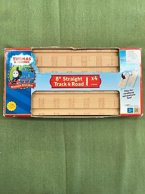 Thomas & Friends Wooden Railway - 8 Inch Straight Track 4 pieces