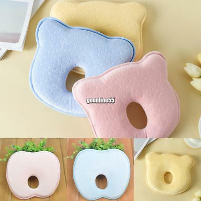Soft Baby Cot Pillow Prevent Flat Head Memory Foam Cushion Sleeping EA9