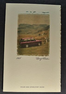 1994 Range Rover Color & Upholstery Sales Brochure Excellent Original 94