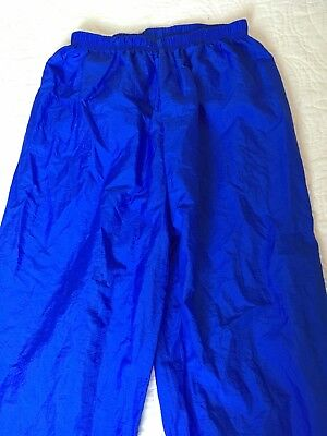 Adult Body Wrappers XS Extra Small Ripstop Trash Bag Ballet Pants Royal Blue