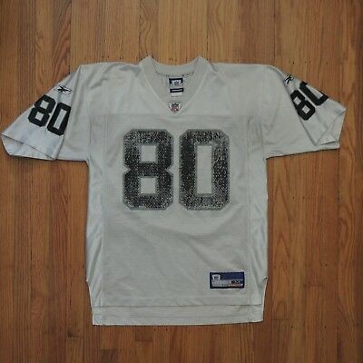 4e6a43ce060 Jerry Rice Oakland Raiders Jersey Mens White Black Reebok NFL Size Medium