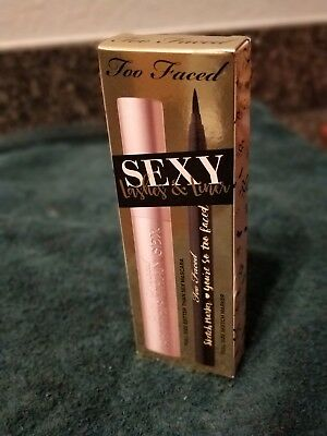 Too Faced Sexy Lashes & Liner 2 PC Full Size~New In  Box- Value of $44