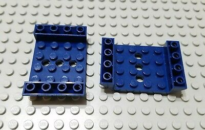 LEGO Lot of 2 Dark Blue 6x2 Cockpit Wedge Pieces