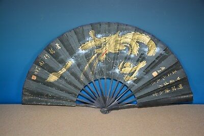 Fine Antique Chinese Paper Fan Signed By Artist Rare N9197