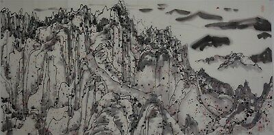 Magnificent Large Contemporary Chinese Painting Signed Master Wu Guanzhong A6178