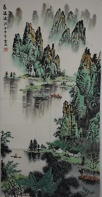 Fine Large Chinese Painting Signed Master Bai Xueshi No Reserve Unframed T8768