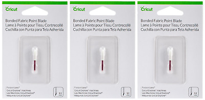 Cricut Bonded Fabric Point Blades - Lot of 3 Pkgs - 1.1mm - 2003916 - New