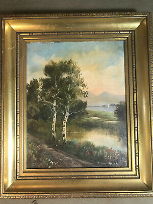 "William Nelson ""River Landscape Scene"" Oil Painting - Signed And Framed"