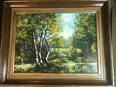 """Nice Mazzon """"Path And Landscape Scene"""" Oil Painting - Signed And Framed"""