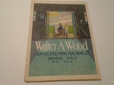 Antique 1914 Walter A Wood Mowing & Reaping Machine Co. Brochure 64 Pgs Original